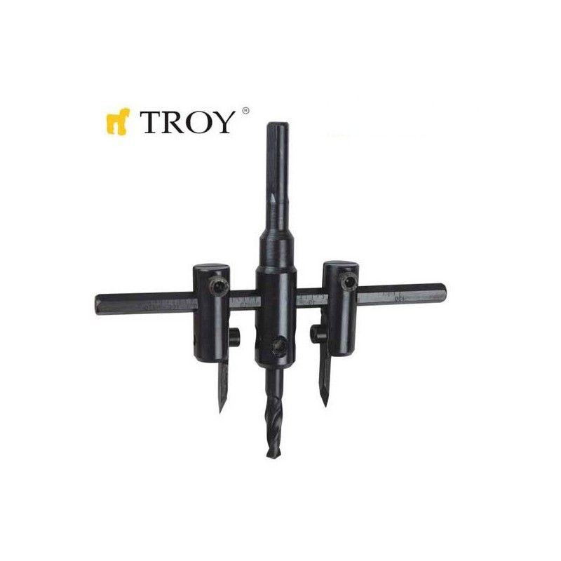Комплект високоскоростни регулируеми резци за гипсокартон  30-120mm / Troy 27401 /