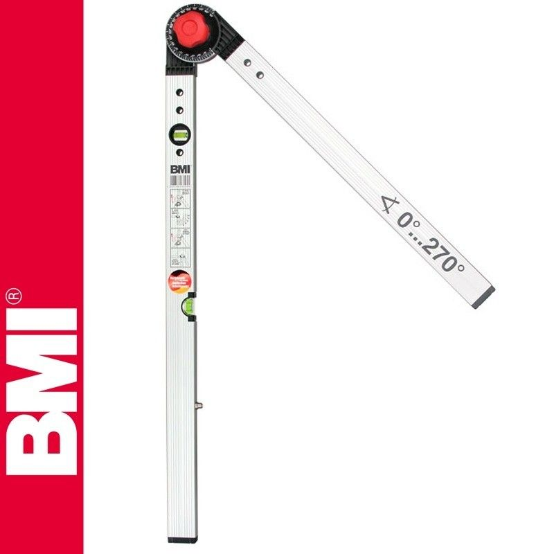 Нивелир алуминиев с протрактор, 60/120cm / BMI 715060120 /