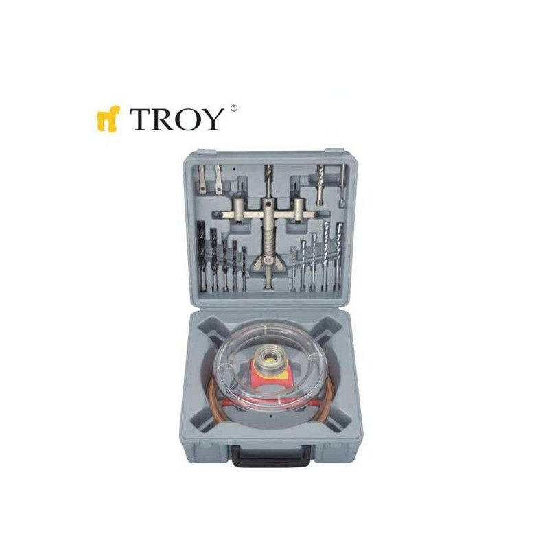 Adjustable Circle Hole Cutter Set Ø 30-120mm / Troy 27491 /