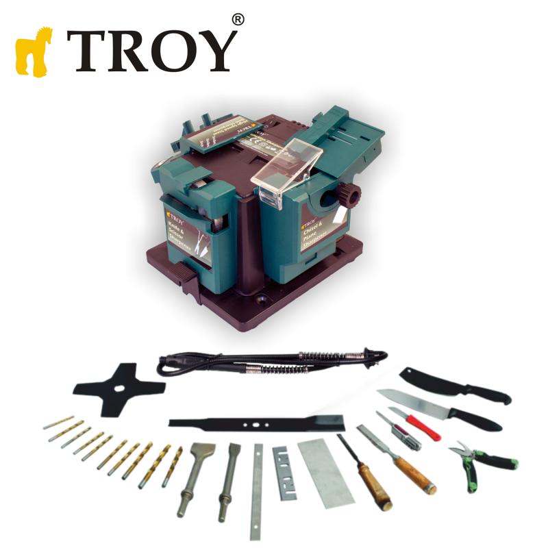 Универсална машина за заточване на инструменти, окомплектована с гъвкав вал / Troy 17059 / 65W