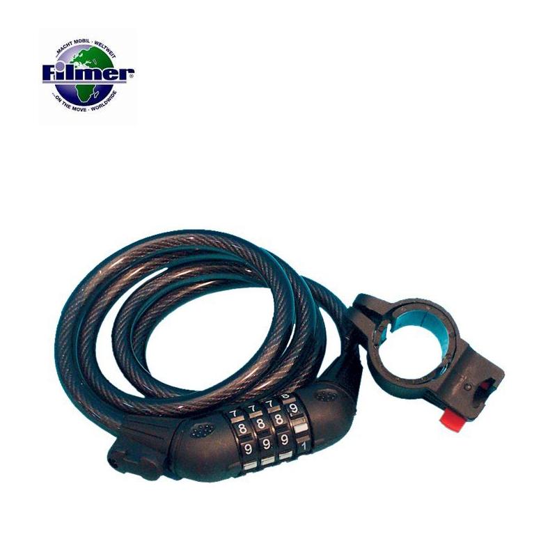 Верига за заключване на велосипеди със 4 цифрен шифър / FILMER 43007 /