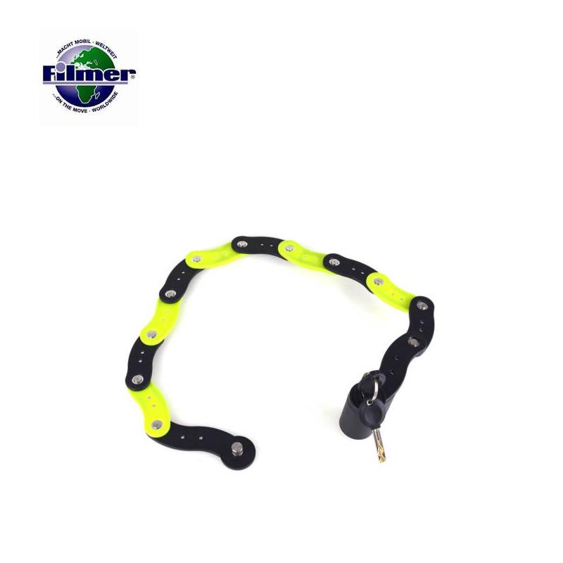 Заключващо устройство за велосипеди, 70 см с ключ и държач / FILMER 43118 /