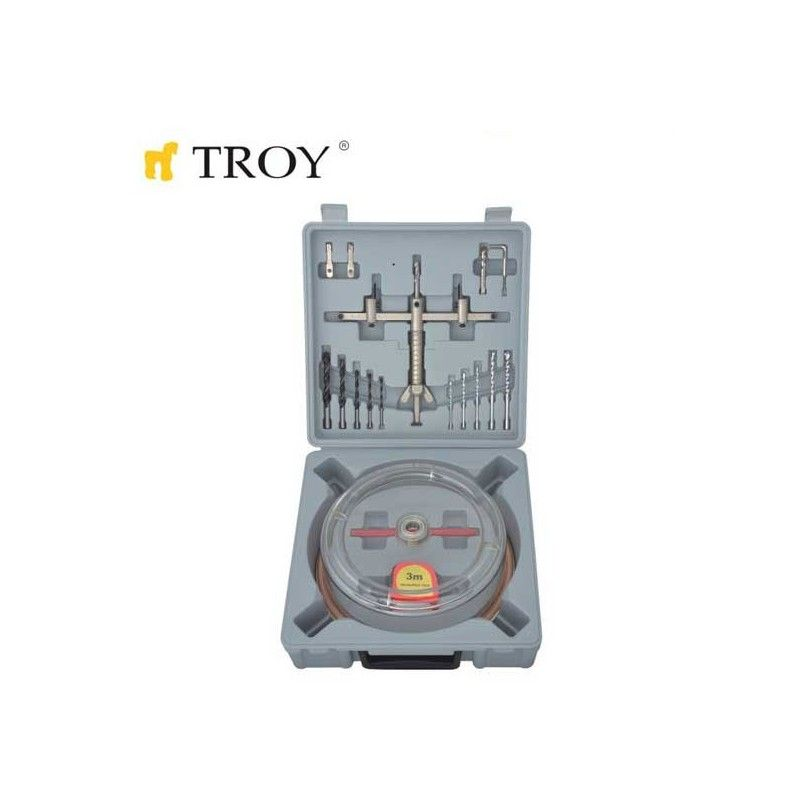 Adjustable Circle Hole Cutter Set Ø 40-200mm / Troy 27492 /
