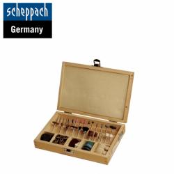 Комплект накрайници за гравиране и шлайфане за Контурен трион DECO-FLEX / Scheppach 88002730 / 103 части