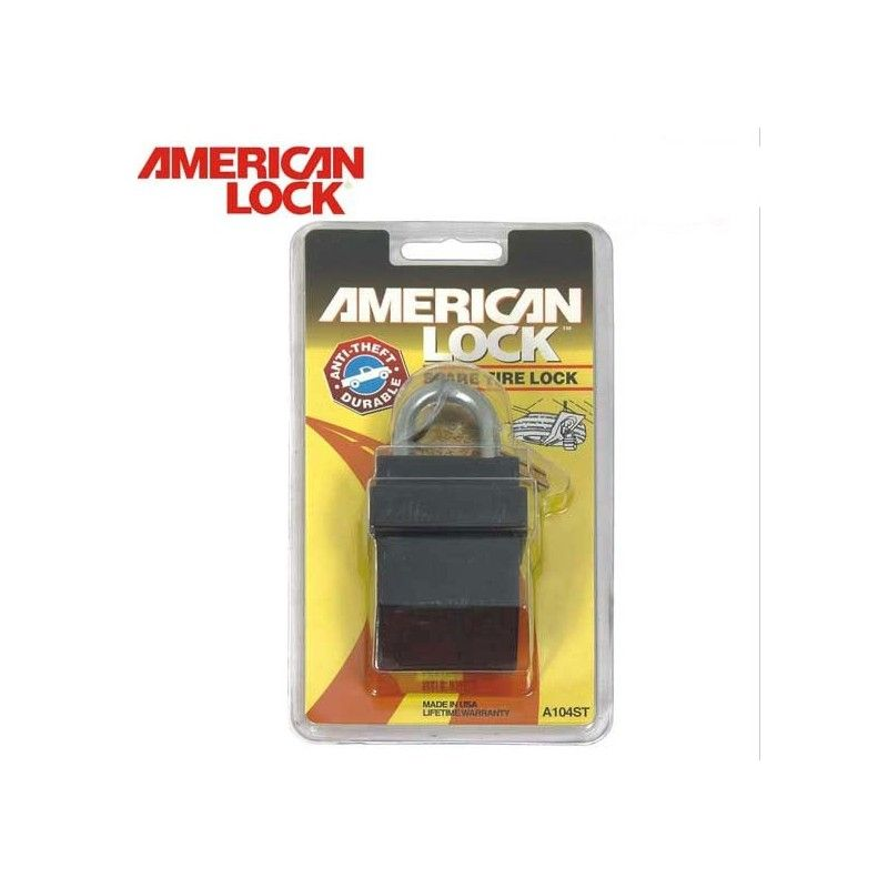 Solid Steel Padlocks Spare Tire Lock AMERICAN LOCK - 1