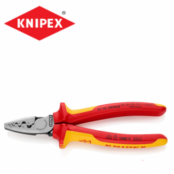 Crimping Pliers 180mm  / KNIPEX 9778180 / for end sleeves  ferrules