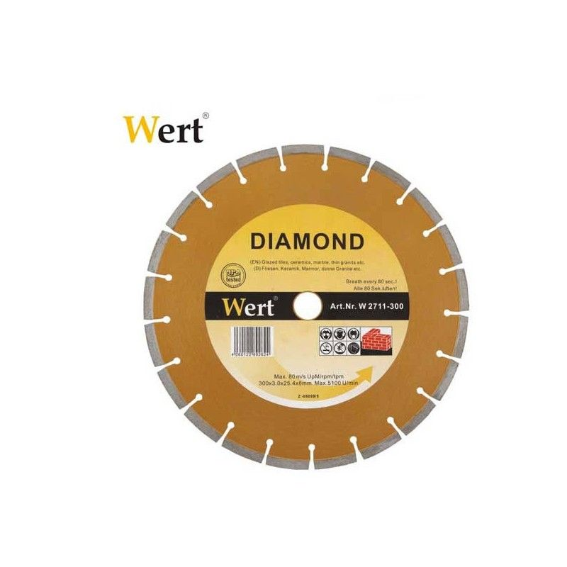 Segmented Diamond Saw Blade 115 mm / Wert 2711-115 /