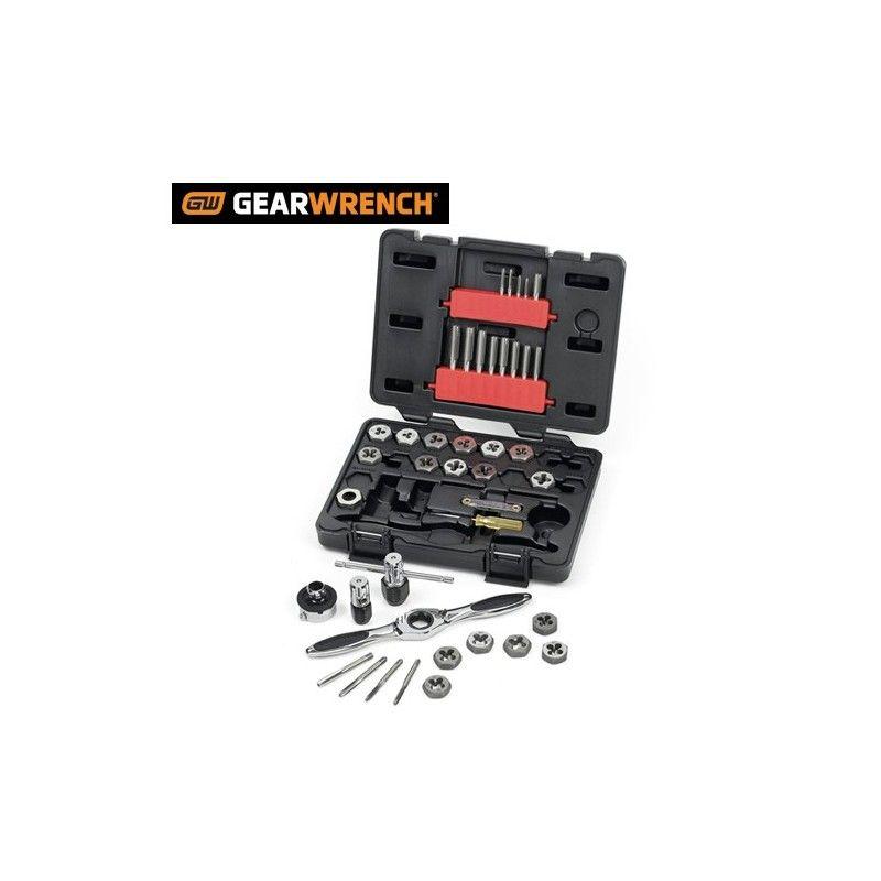 Комплект метчици и плашки, за нарязване на резби 40 части / GW 3886 /