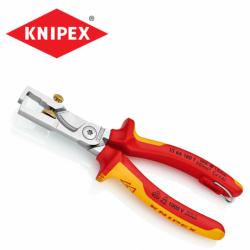 Изолирани Клещи за оголване на кабели 180 мм / KNIPEX 1366180 T /