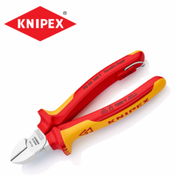 Insulated diagonal cutters 160 mm / KNIPEX 7006160 T / with tether attachment point
