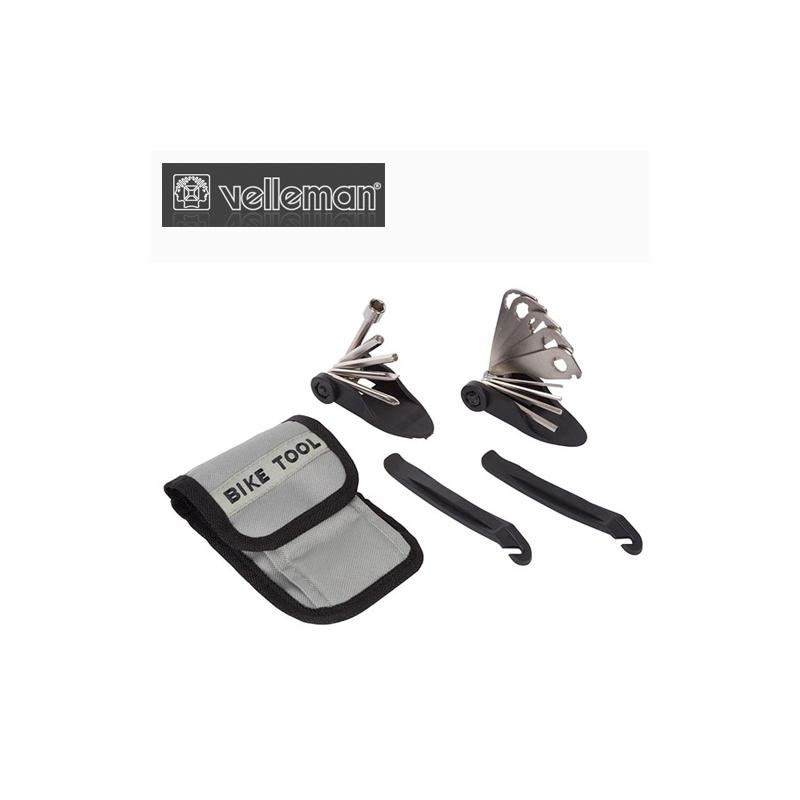 Калъфче с инструменти за велосипед, 15 части / Velleman ABTS1N /