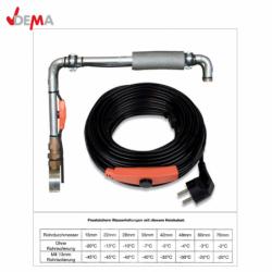 Нагревателен кабел, защитаващ от замръзване, снабден с термостат, 14 м / DEMA 27504 /
