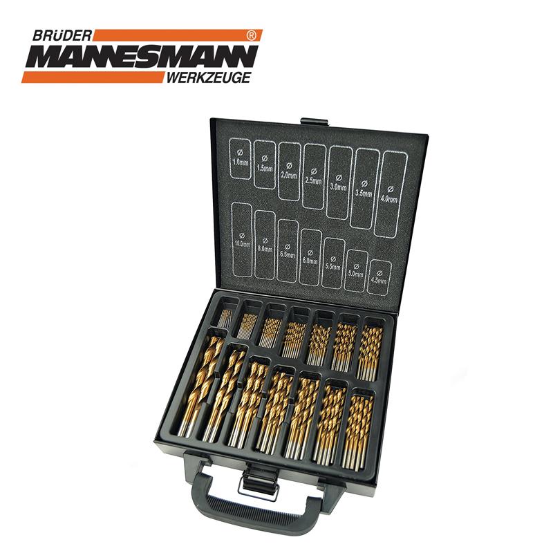 Комплект професионални свредла от стомана HSS, 1-10 мм, 99 бр
