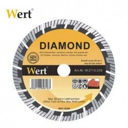 Segmented Turbo Diamond Saw Blade / Wert 2713-115 /