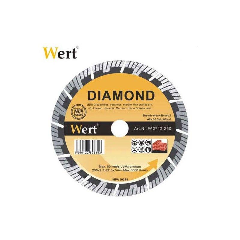Disc de ferăstrău segmentat turbo diamant 115 mm