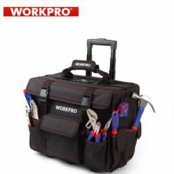 Комплект инструменти в чанта на колелца, 86 части + 90бр винтове / Workpro W009029 /