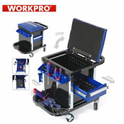 Сервизен стол - количка с инструменти 136 части / Workpro W009039 / 6