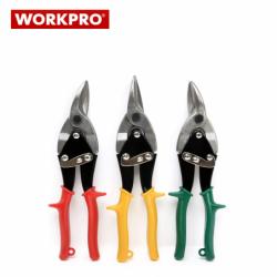 Комплект Ножици за ламарина 3 части / Workpro W000401 /