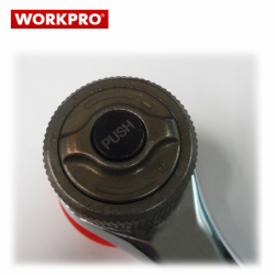 Комплект ръкохватка с двойно задвижване и вложки 10 части / Workpro W003014 / 2