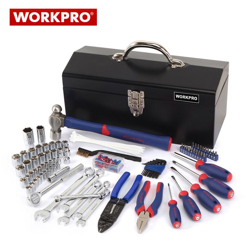 Метален куфар с инструменти за техници 160 части / Workpro W009027 /