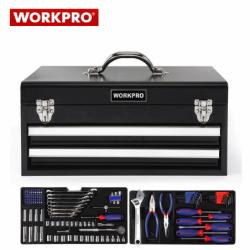 Метален куфар с инструменти за техници 239 части / Workpro W009028 / 3