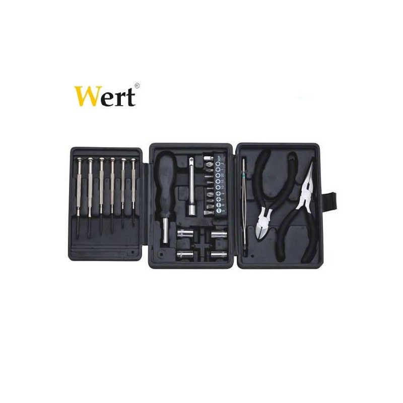 Комплект фини инструменти с клещи, 26 части / Wert 2241 /