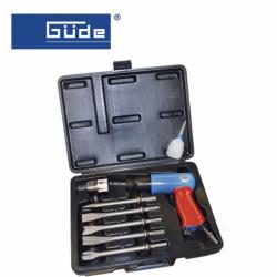 Pneumatic chisel hammer set 8 pcs. / GÜDE 75180 /