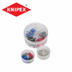 Assortment of insulated twin end sleeves / KNIPEX 9799908 /