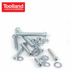 Assortment of screw, nuts and washer  / Toolland HAS12 / 450 pieces