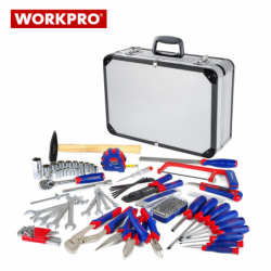 Комплект инструменти в алуминиев куфар 119 части / WORKPRO W009019 /
