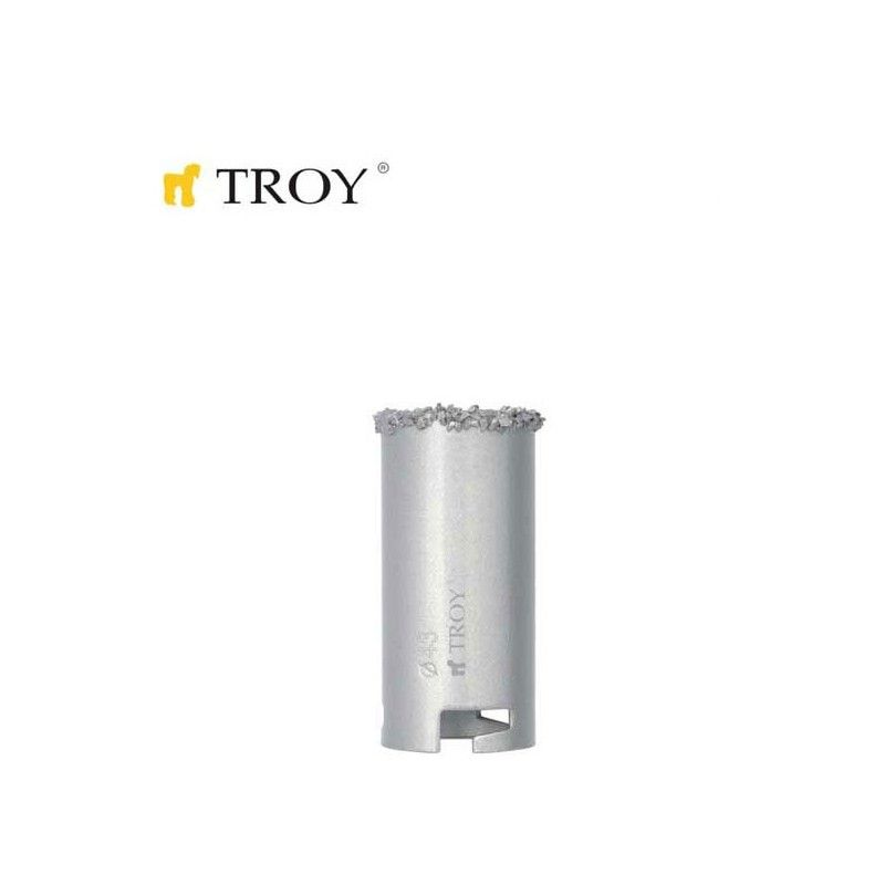 Tungsten Carbide Hole Saw  (O 43mm) TROY - 1
