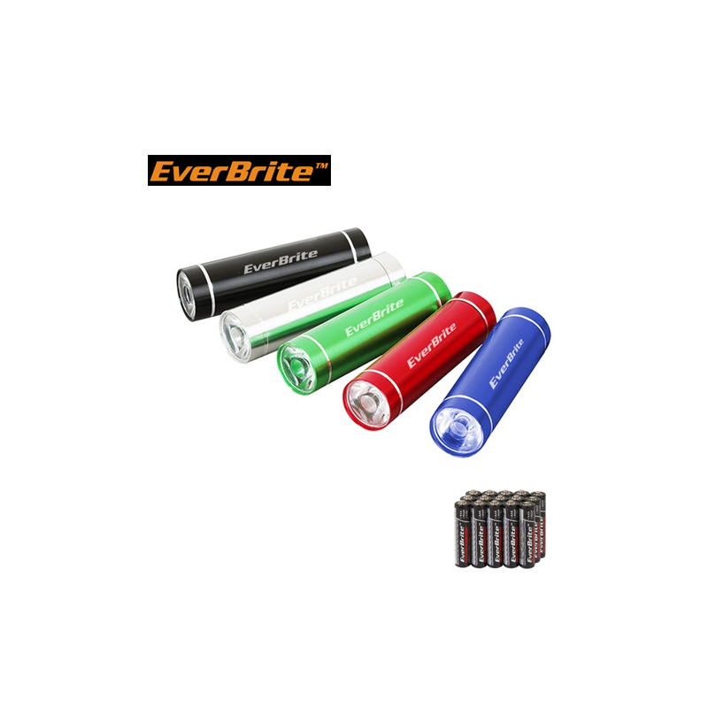 Aluminium Flashlights set with batteries 5pieces / EverBrite E000011 / EVERBRITE - 1
