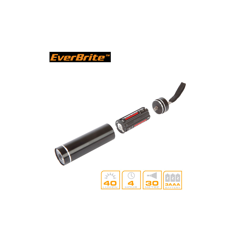 Aluminium Flashlights set with batteries 5pieces / EverBrite E000011 / EVERBRITE - 2