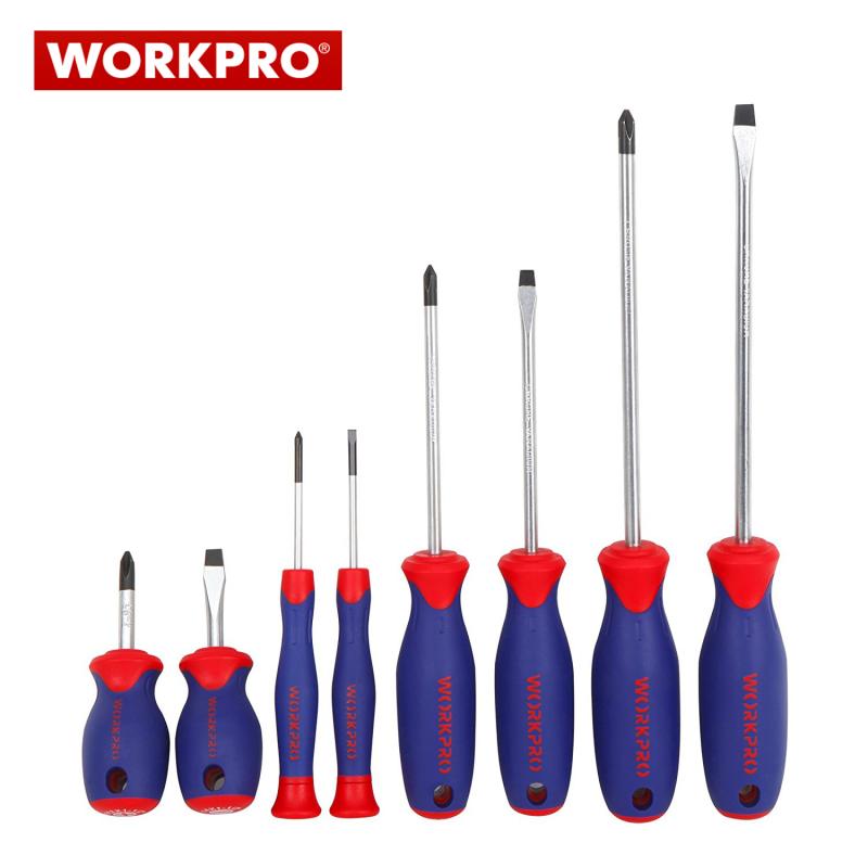 Комплект отвертки 8 части / Workpro W000833 /