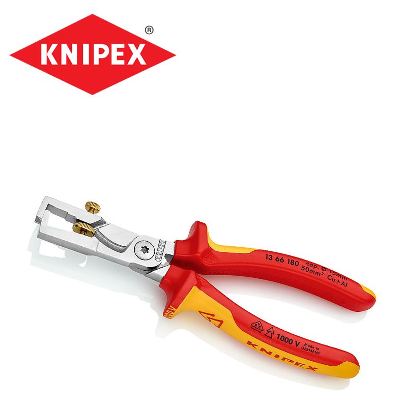 Изолирани Клещи за оголване на кабели 180 мм / KNIPEX 1366180 /