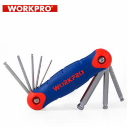 Folding Ball Point Hex key set 8 pcs. / Workpro W022004 /