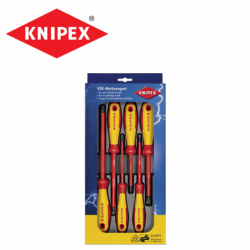 VDE Screwdriver Set Slotted / Phillips / Pozidriv / KNIPEX 002012 V04 /