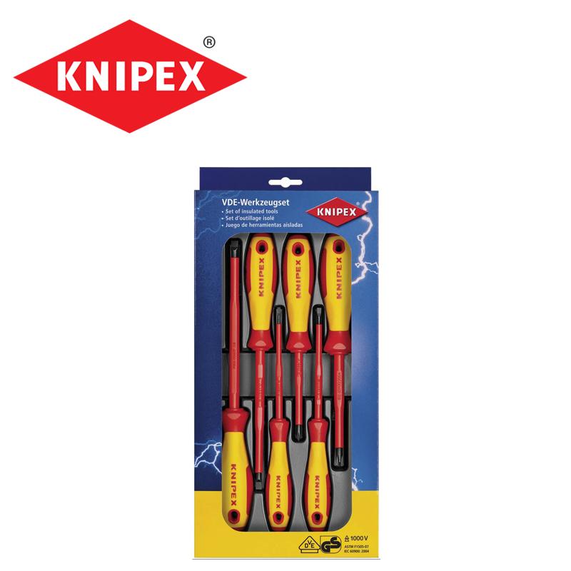 Комплект изолирани отвертки 6 части / KNIPEX 002012 V04 / S/ PH/PZ