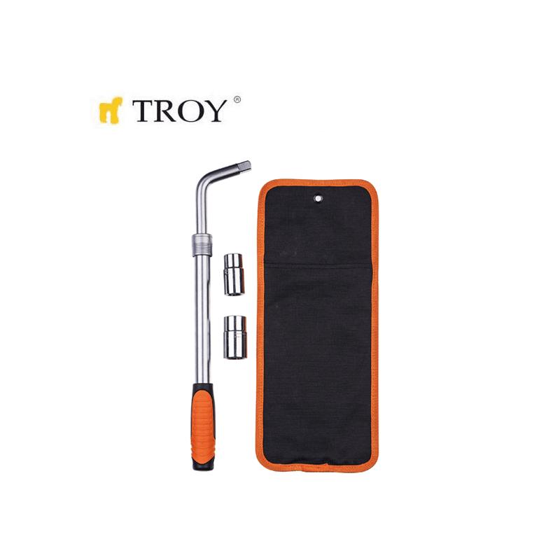 Телескопичен ключ за джанти 4 части / TROY 26138 /