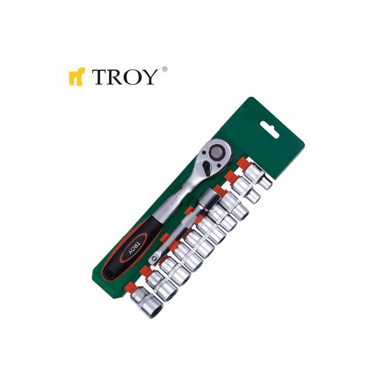 "Комплект тресчотка с вложки 1/2"", 12 части / Troy 26137 /"