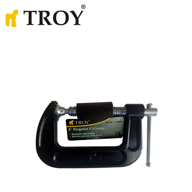 """Винтова C-образна стяга 3"""" / Troy 25063 /"""