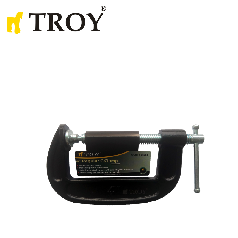 Винтова C-образна стяга 100мм / Troy 25064 /