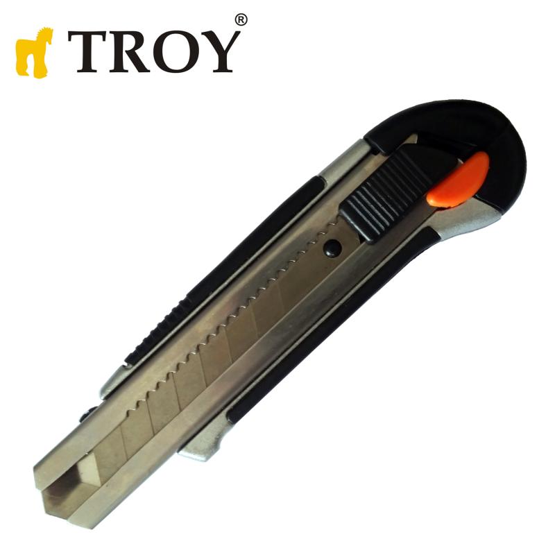 Професионален листов нож с метален водач 100x22mm / Troy 21601 /