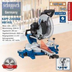 Потапящ циркуляр за ъглово рязане HM140L / Scheppach /
