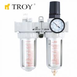 Пневматичен филтър, регулатор и омаслител / Troy 18624 /