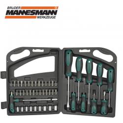Отвертки, накрайници и вложки 47 части в куфар / Mannesmann 11247 /