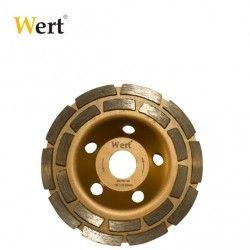 Диамантен диск за шлайфане на бетон Ф 125 мм, двуредов