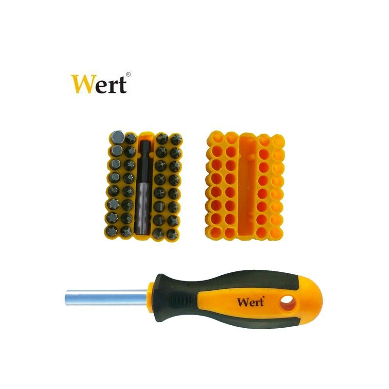 Replaceable Bit Screwdriver 33pcs.  / WERT 2255 /