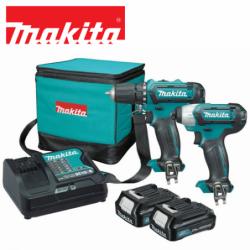 Cordless 2pc Drill / Impact Driver Kit / MAKITA CLX201AX6 /