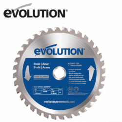 TCT Steel Cutting Saw Blade 255mm / EVOLUTION EVOBLADE255 /